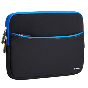 Evecase Bolsa para Portátil 11,6 pulgadas, Funda para Tablet o Portátil, Color Negro y Azul