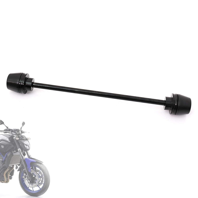 For Yamaha MT09 Tracer 2015-2019 Titanium Front Wheel Axle Fork Sliders Protectors Crash Protector Aluminum Rod Delrin E