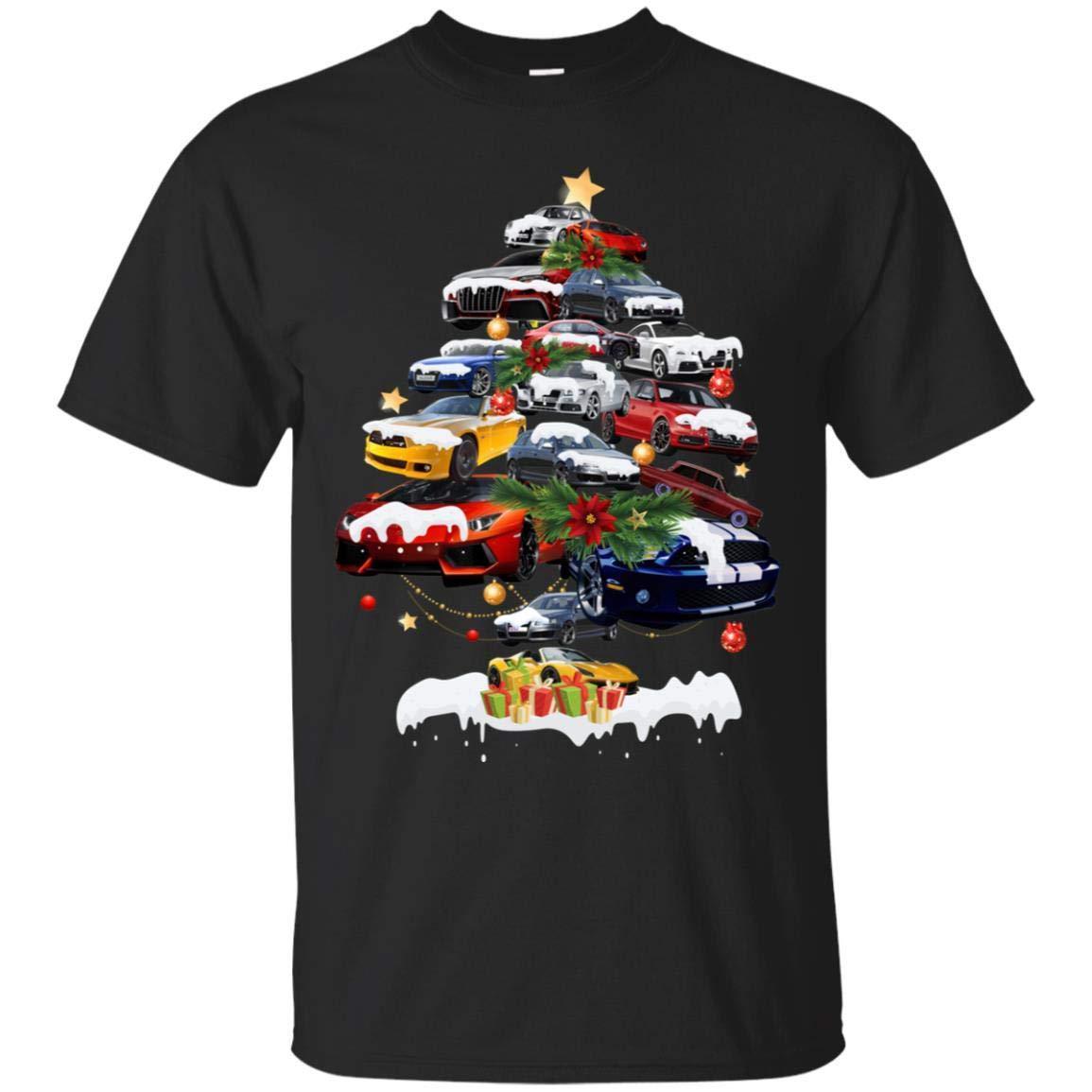 TeeAbelia Cars Christmas Tree X-mas Gift Shirt for Mens Or Womens