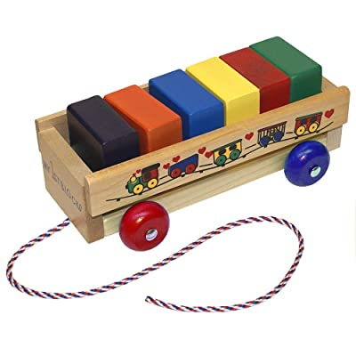 Holgate My First Block Wagon Toy : Push And Pull Baby Toys : Baby