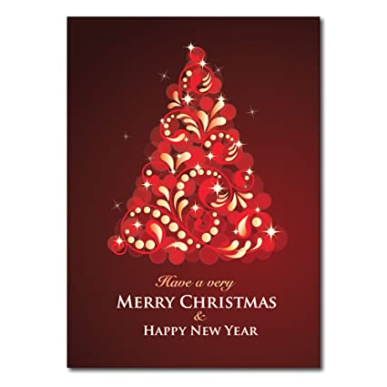 Amazon christmas holiday greeting card h1602 a vibrant christmas holiday greeting card h1602 a vibrant christmas tree and a message of merry christmas m4hsunfo