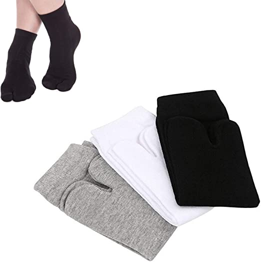 Amazon.com: SunTrade 3 Pairs Japan Tabi Socks, Split 2 Toe ...