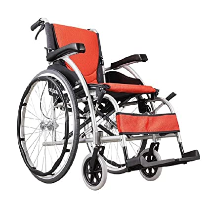 DPPAN Drive Medical Transport Silla de ruedas Plegable ligero para adultos, aleación de aluminio fuerte