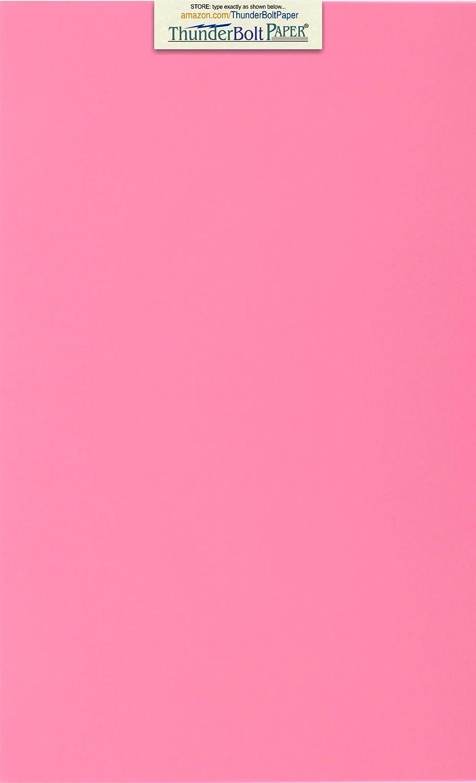 25枚 明るいピンク 65ポンド カバー|カード用紙 - 8.5 X 14インチ リーガル&メニューサイズ - 65ポンド/ポンド 軽量厚紙 - 高品質の印刷可能な滑らかな表面で明るくカラフルな結果 B07MG81BD9