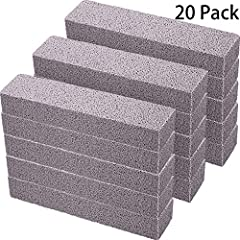 Feature: Pumice cleaning stone is made of pumice, sturdy, high density, it won't scratch your ceramic tile and metal, let you easily and quickly clean toilet bow. Specification: Material: pumice Color: grey Size: 5.9 x 1.4 x 0.9 inches/ 15 x ...