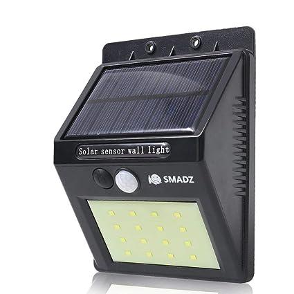 SMADZ Solar Lights Outdoor, SL11 16 LED Wireless Waterproof Motion Sensor  Light For Patio,