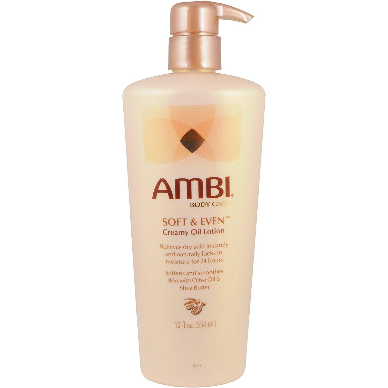Ambi Skincare Soft & Even Creamy Oil Lotion, 12 Ounce