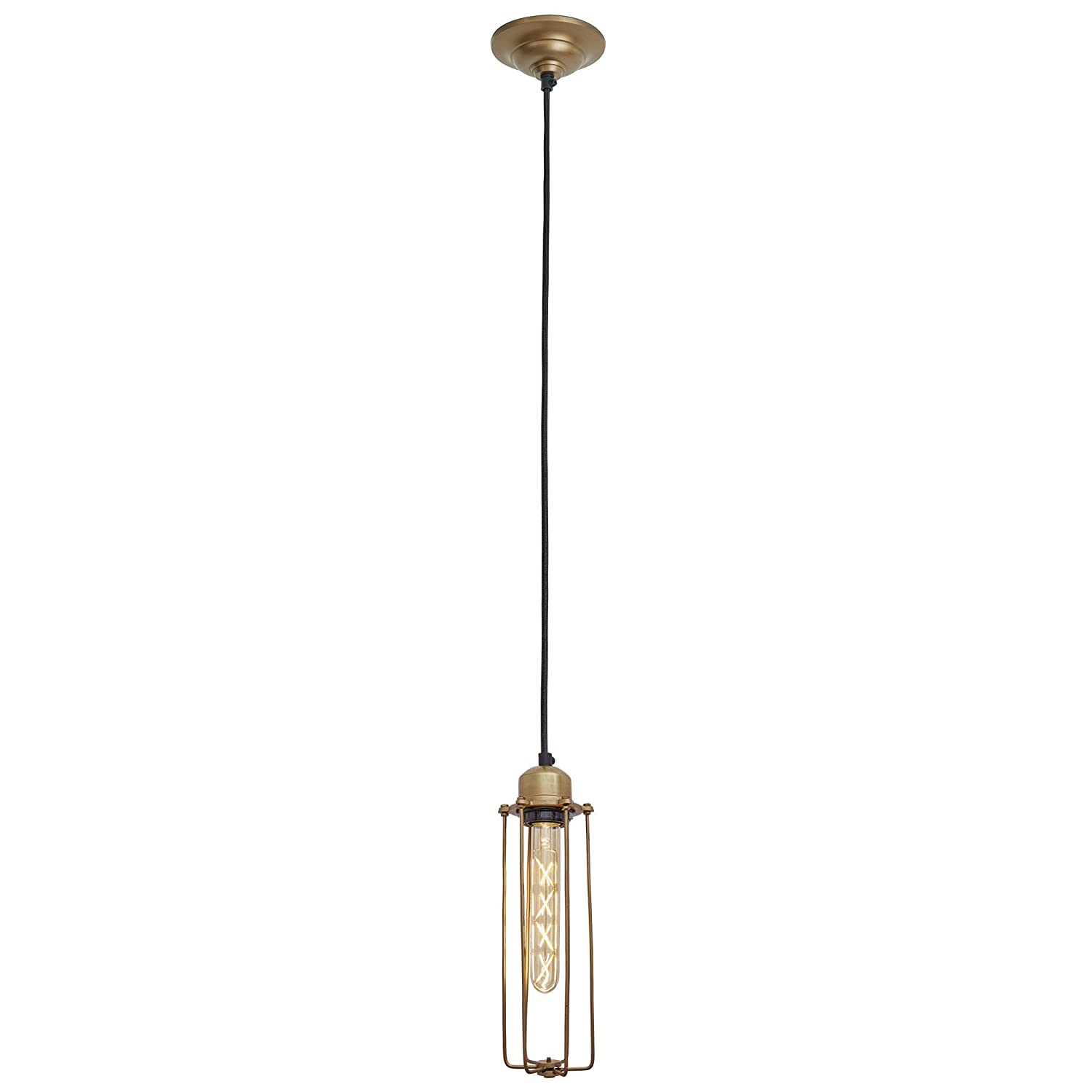 Orlando Cylinder Wire Cage Retro Pendant Light Antique Brass Vintage Sconce Wall Lighting