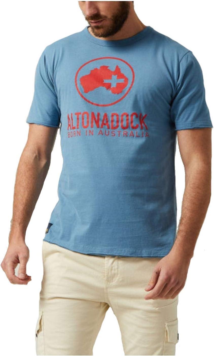 Altonadock Camiseta Azul Logo Rojo