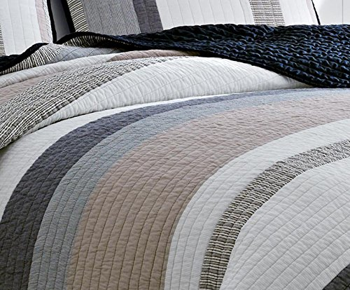 Nautica 201246 Cotton Reversible Quilt, Twin, Tideway