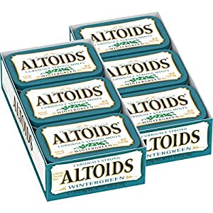 Altoids Mints Curiosamente fuertes, Wintergreen, latas 1.76 onzas (paquete de 12)