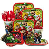 Costume Supercenter BBKIT1015 Mario Bros. Standard Birthday Party Tableware Kit