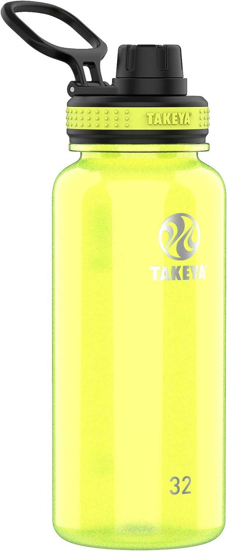 Takeya Tritan Sports Water Bottle with Spout Lid, 32 oz, Wild Lime