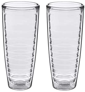 2-pack Insulated 26 Ounce Tumblers - BPA-Free - Made in USA - Clear