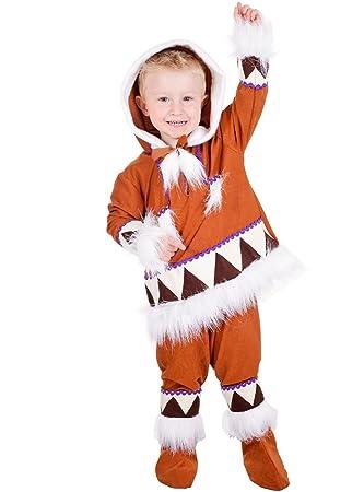 Disfraz de esquimal para niño - 3-5 años: Amazon.es ...