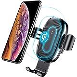 Baseus Caricatore Wireless Auto, Caricatore Wireless Veloce per Auto, Supporto 360° Girevole con Base di Carica per iPhone X / 8/8 Plus,Samsung Galaxy 8/ S8 / S8 Plus/Bordo S7 / S7/ Note 8/ Note 5