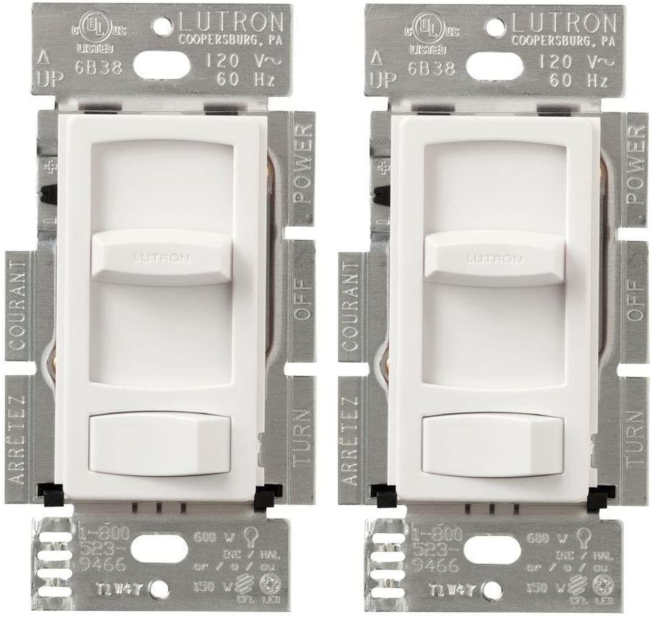 Lutron Skylark Countour Single Pole 3-Way Dimmer Light Switch CTCL-153P White