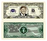 Set of 10 - Donald Trump Commander In Chief Presidential Limited Edition Million Dollar Bill