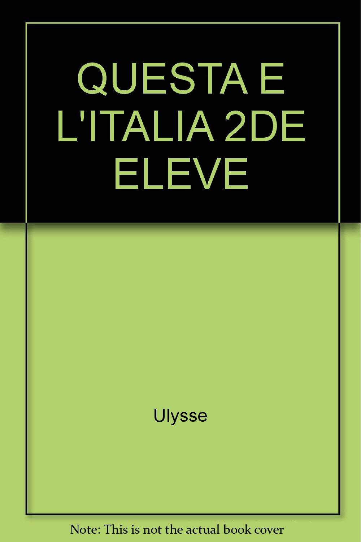 Questa E Italia 3e Livre Italien Eme Eleve 9782010059445