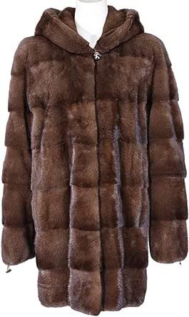 Brown Fur Babydoll Coat For Women