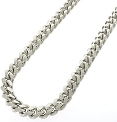 """DG Men/'s 24/"""" Silver Stainless Steel 7mm Figaro Chain Necklace*Unisex,Box"""