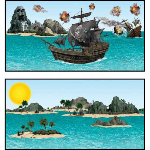 Insta Theme Pirate Ship Island Scenes product image
