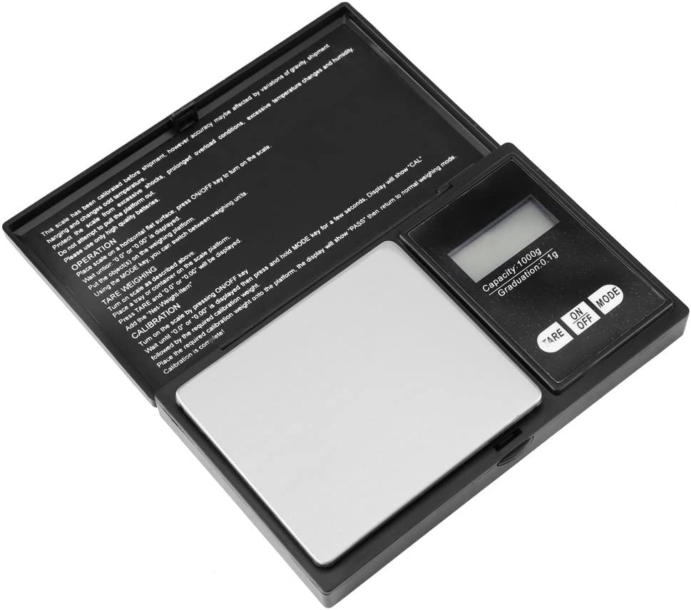 Stainless Steel Portable Mini LED 0.1g 1000g//0.1g 0.01g High Precision Digital Pocket Scale for Jewelry//Gold//Diamond//Silver Mini Scale