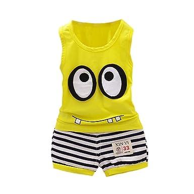 Oyedens Shorts Et Haut Ensemble Bebe Garcon Naissance Mode Unisexe  Infantile Enfant Vetement Bébé Garçon Fille ba732d39001