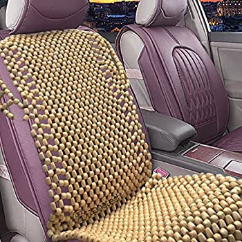 Amazon.com: Natural Wood Bead Seat Cover Massage Cool Cushion ...