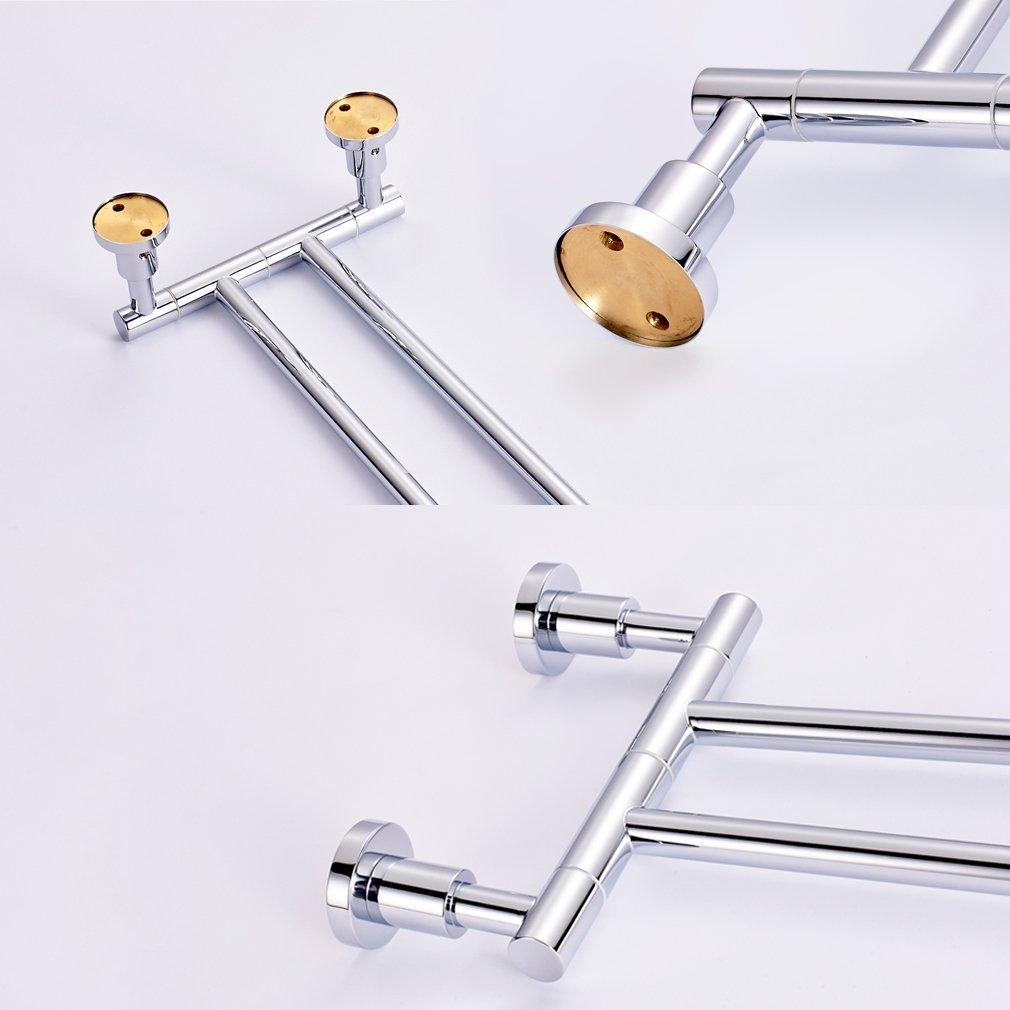 chrom 4 x 35 x 12 cm Wenko 17814100 Power-Loc Handtuchhalter mit 2 Armen Elegance Zinkdruckguss