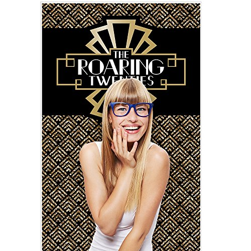 (Big Dot of Happiness Roaring 20's - 1920s Art Deco Jazz Party Photo Booth Backdrop - 36