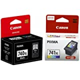 Canon Combo of PG-740XL And CL-741XL Ink Cartridge (PG-740 Black:CL-741 Color)