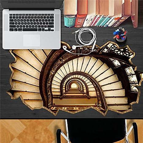 GB-Palacio escalera anillo adhesivo PAG Escritorio 3D Pegatina Vinilos adhesivos de pared Inicio decoración de la mesa de escritorio: Amazon.es: Hogar