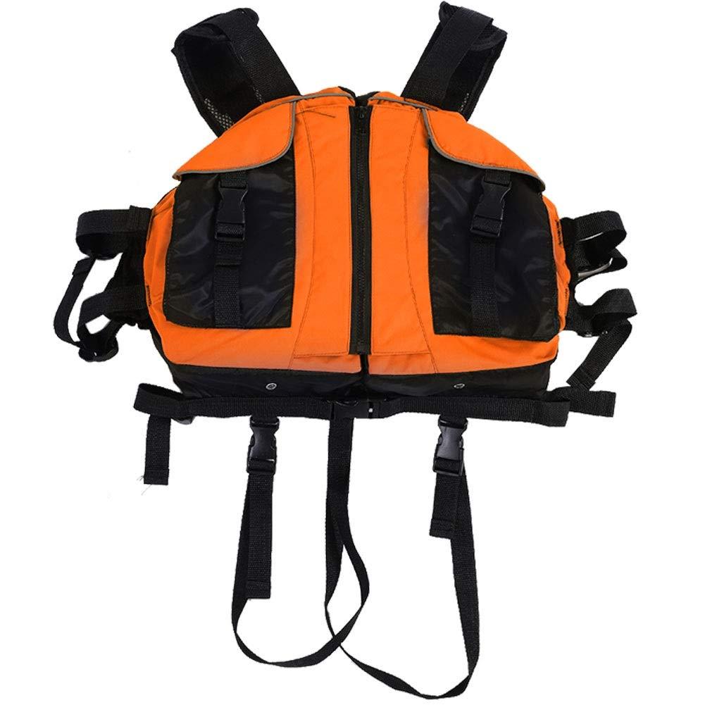 Delaman ライフベスト クリエイティブ ビートル カヌー カヤック インフレータブル ボート ラフト ライフ ベスト ジャケット ビートル 水着 大人用 水泳 安全  オレンジ B07PSJCY1V