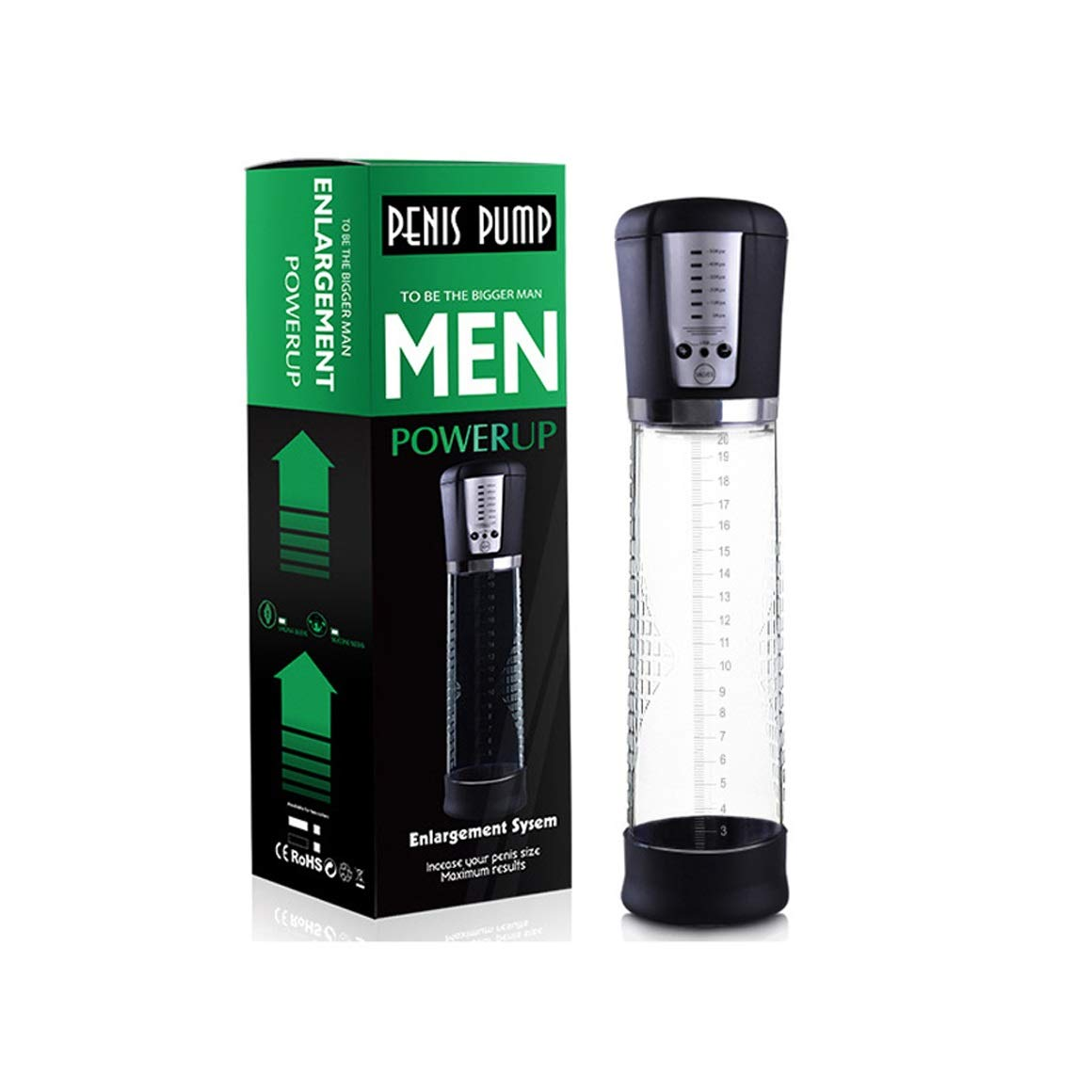 Automatic Penǐs Vacuum Pump with 4 Suction Intensities for Stronger Bigger Erections, Dhlover Electronic Male Enhancement Penǐs Pump with Clear Cylinder for Easy Viewing