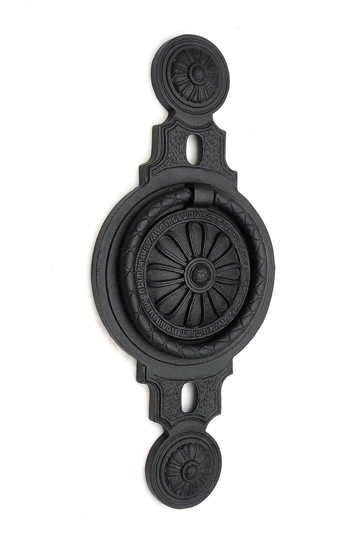 gro/ß schwarz reich verziert handgefertigt aus Eisen T/ürklopfer antik EW018