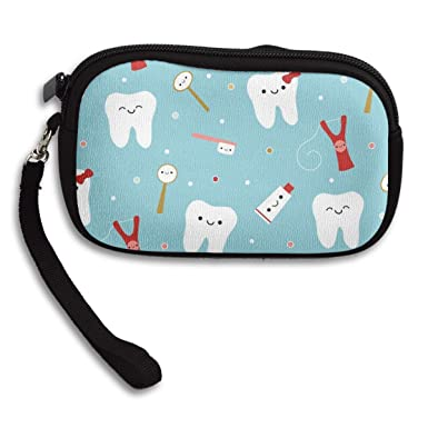 Amazon.com: Dental - Monedero de tela con diseño de dientes ...