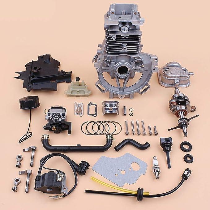 Kit de reconstrucción del carburador del cigüeñal del cilindro del cilindro del cigüeñal de 39 mm para HONDA GX35 GX35NT Piezas de la recortadora del motor del motor de gas pequeño: Amazon.es: