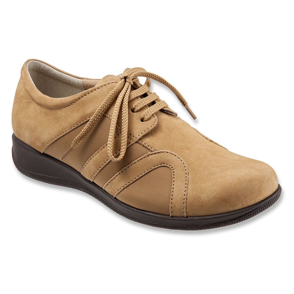 SoftWalk Women's Topeka Flat B00DR08UJS 6 E US|Tan NuBuck