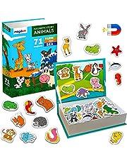 Magnetbok för barn MAGDUM Animal Story – 71 stora kylskåpsmagneter för barn – magneter för kylskåpsmagneter för småbarn – stor magnet – barnkylskåpsmagneter – leksaksmagneter för whiteboards – småbarnsspel