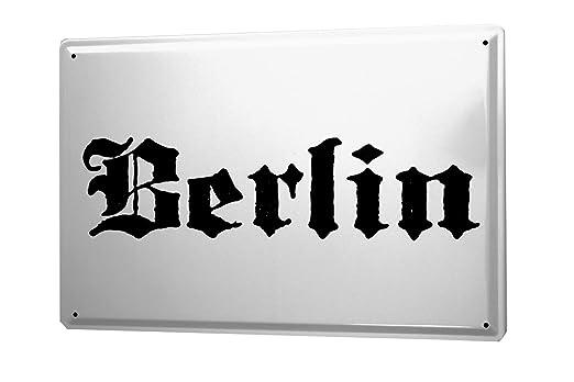 Cartel de chapa Placa metal tin sign Berlin City Nombre de ...