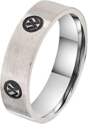 Titanium 6mm Satin Mens Wedding Ring Band Size 11.5