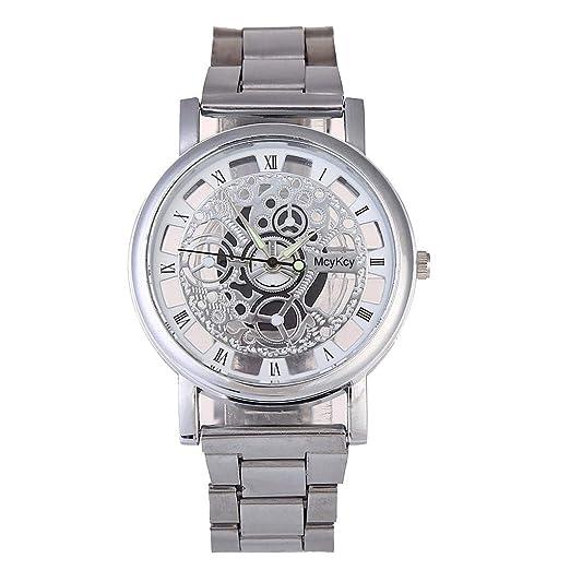 ... Analogico de Cuarzo para Hombre Correa de Malla Reloj Dorado Hombre Acero Inoxidable Relojes Joyas Regalos Día del Padre Originales: Amazon.es: Relojes