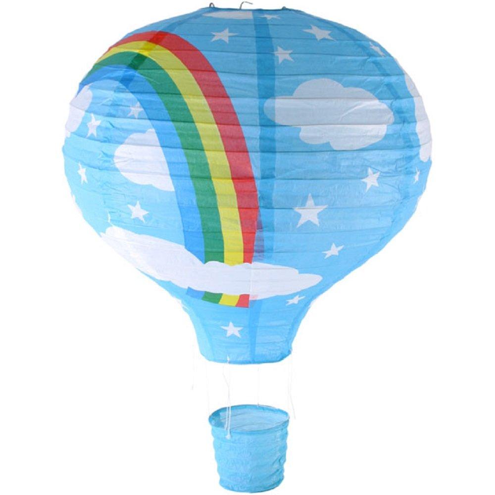 Rainbow Lampe de Plafond Montgolfière (Lanterne-Abat-jour en Papier-Bleu