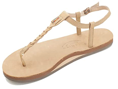 85fae6bee369 Image Unavailable. Image not available for. Color  Rainbow Sandals Women s  Single Layer Premier Leather T-Street Sierra Brown ...