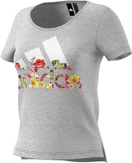 adidas Bos Flower Tee T Shirt Femme: : Sports et