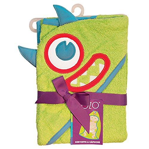 Sozo Baby-Boys Newborn Monster Hooded Towel, Green,