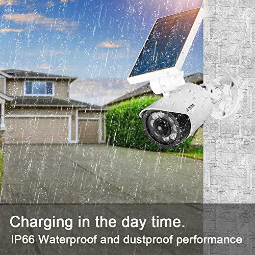 Solar Motion Sensor Light Outdoor - 800Lumens 8 LED Spotlight 5-Watt Solar Lights Outdoor IP66 Waterproof, Wireless Solar Flood Light for Porch Garden Patio Driveway Pathway,Plastic,Pack of 2 (White) by A-ZONE (Image #4)