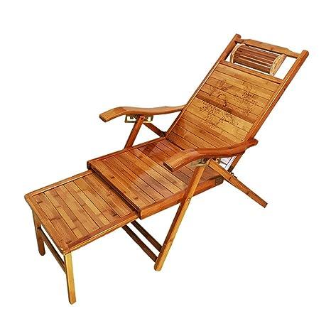 SACKDERTY Sillas reclinables Plegables de bambú Silla de ...