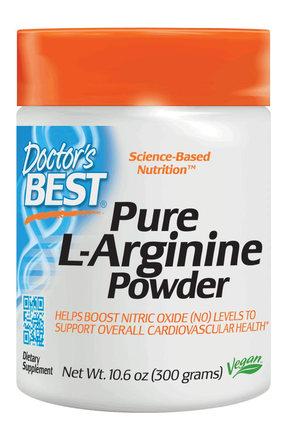 Doctor's Best L-Arginine Powder, Non-GMO, Vegan, Gluten Free, Soy Free, Helps Promote Muscle Growth, 300 Grams by Doctor's Best